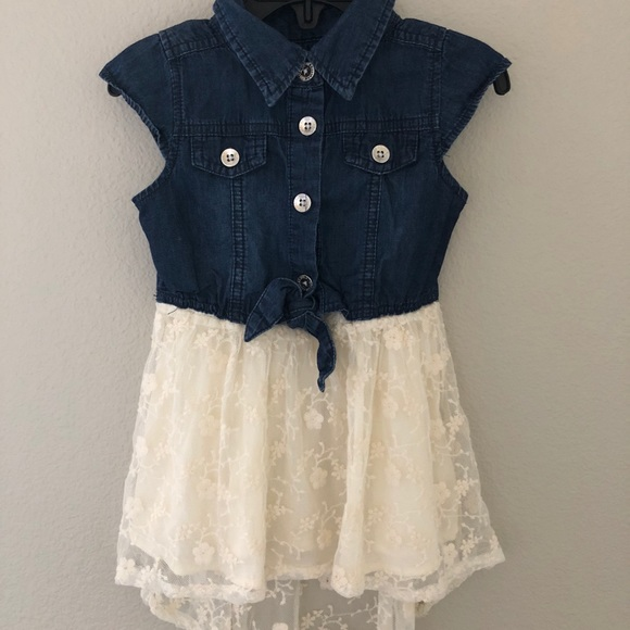 d06a0b7525d Guess Other - GUESS Toddler Girl Denim and Lace Dress
